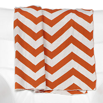ZGallerie chevron-throw-orange